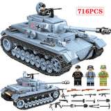 716 PCS Technik Military Tank Building Blocks, Toy for Kids