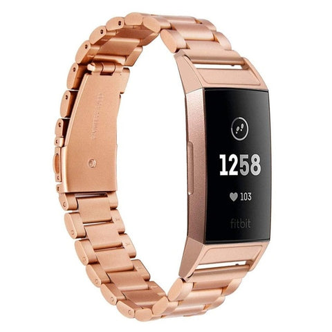 Stainless Steel Watch Link Bands For Fitbit Charge 3