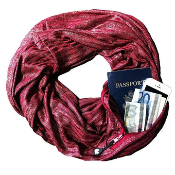 Anti Theft Pocket Scarves
