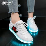 Light Up Shoes with Flower | High Top Sneakers