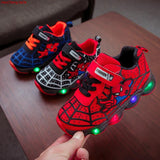 SpiderMan Children Shoes with LED