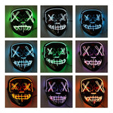 Glow In The Dark Halloween Mask With Led Light