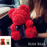 Teddy Bear Rose Flower Artificial Gifts for Women Valentine's Day