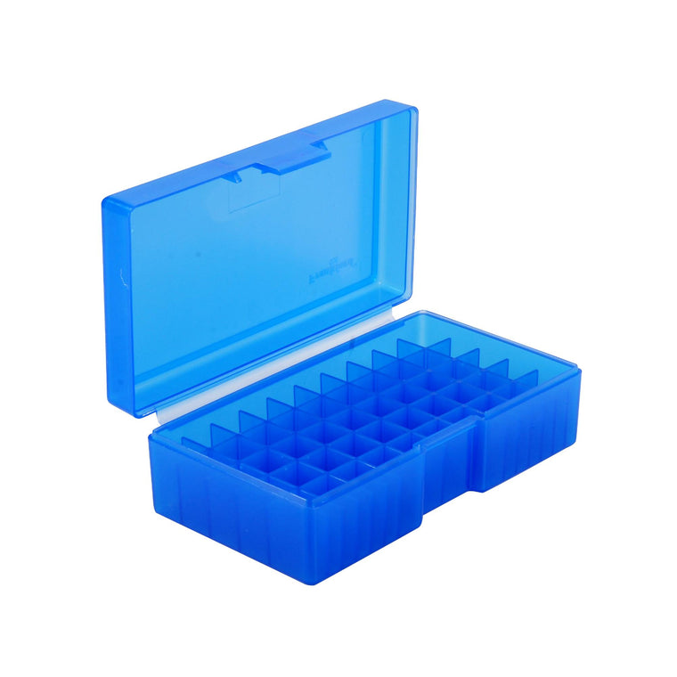 #506 - Blue, 50 ct. Ammo Box, 480 Ruger, 50 AE