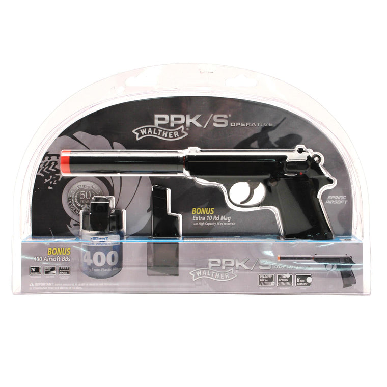 Walther Replica Soft Air - PPK-S Operative Kit, Black