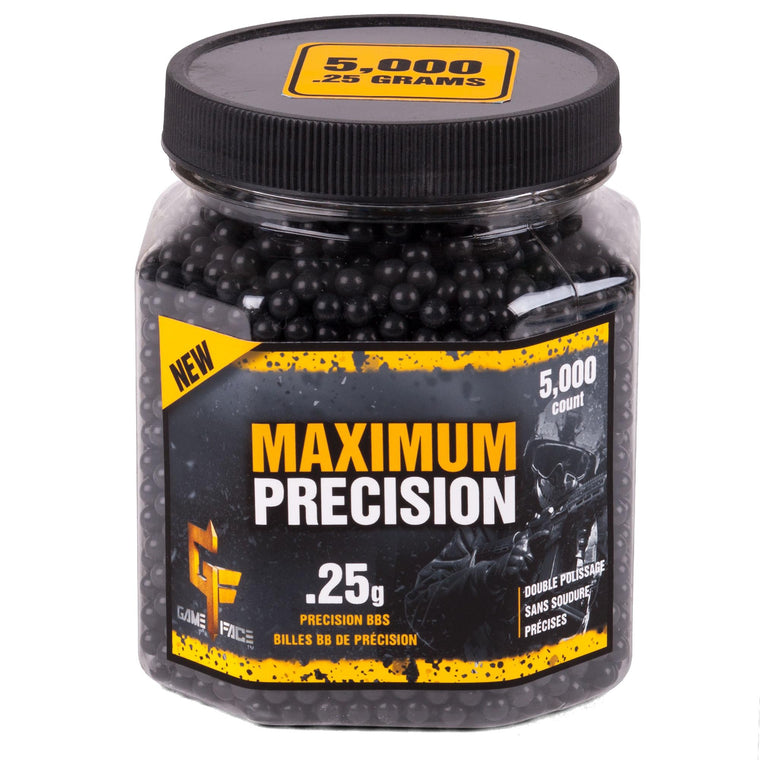 Maximum Precision 6mm BB Blk .25g (Per 5000)