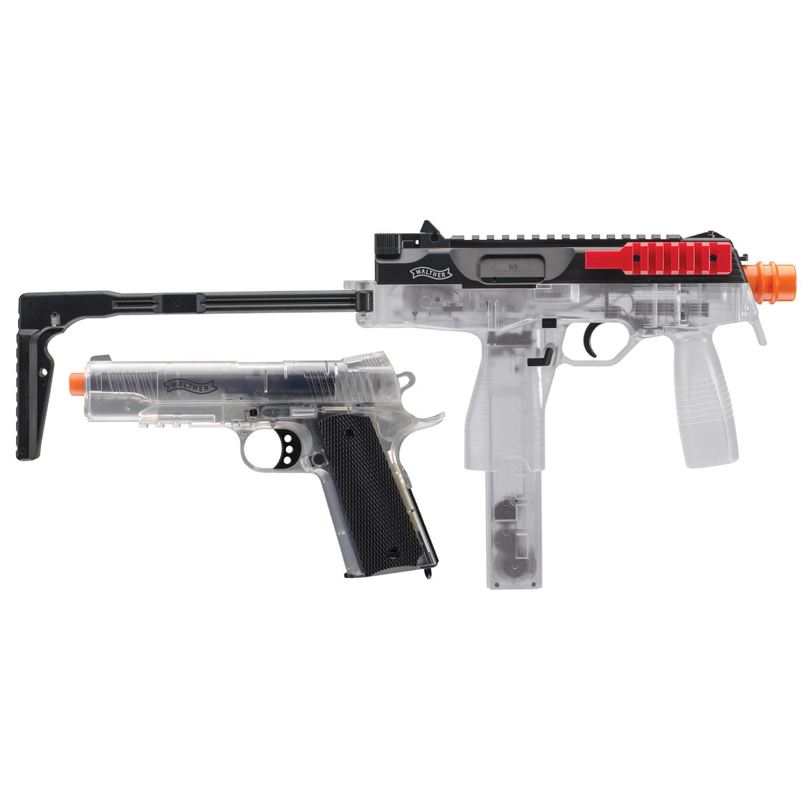 6mm Walther Tactical Airsoft Kit - Clear-Red