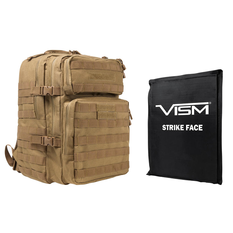 "Assault Backpac with 11"" z 14"" Square Panels - Tan"