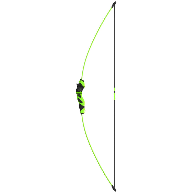 Youth Archery - Quicksilver, Neon Green with Black Accents