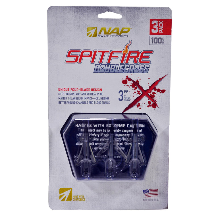 Spitfire Double Cross - 100 Grains, 3 Pack