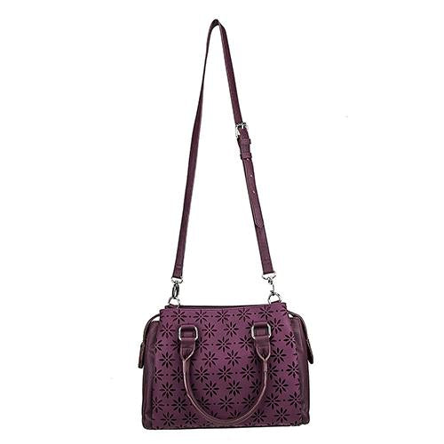 Daisy Crossbody Satchel - Burgundy