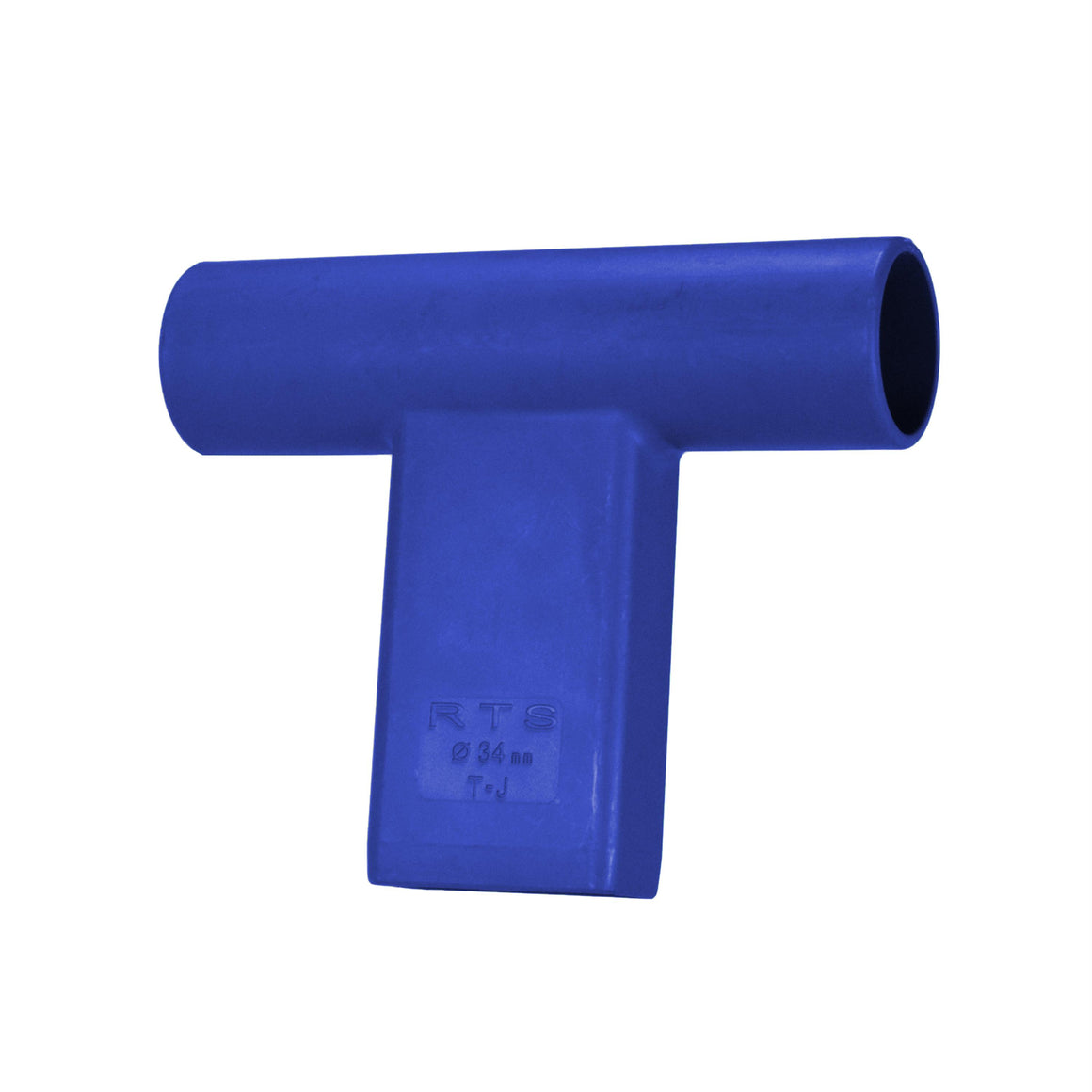 """T"" Connector for Round Target Pole - Blue"