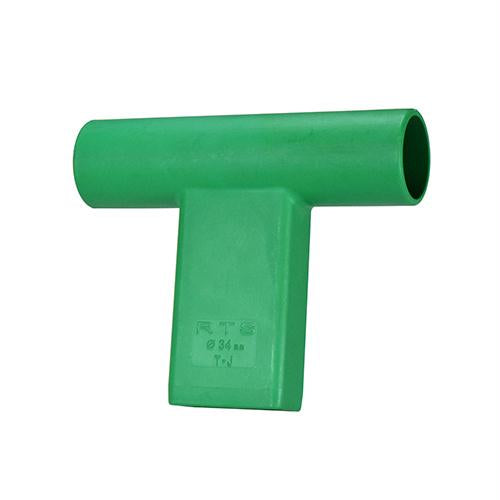 """T"" Connector for Round Target Pole - Green"