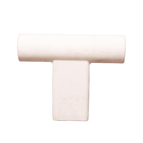 """T"" Connector for Round Target Pole - White"
