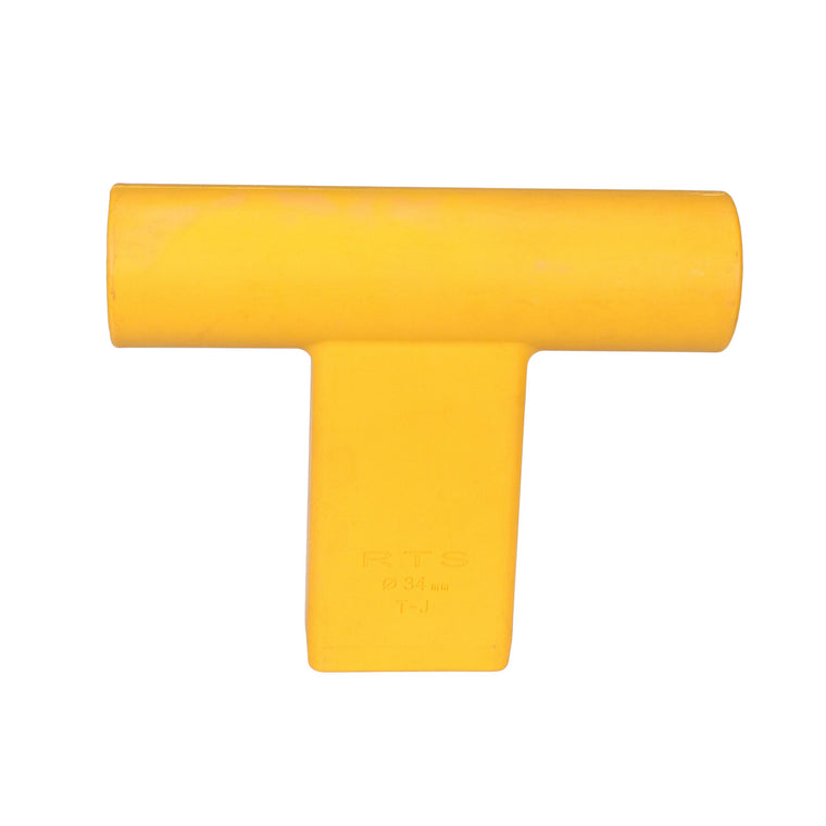 """T"" Connector for Round Target Pole - Yellow"