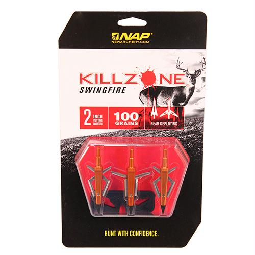Mechanical Broadhead - Killzone Swingfire, 100 Grains, Package of 3