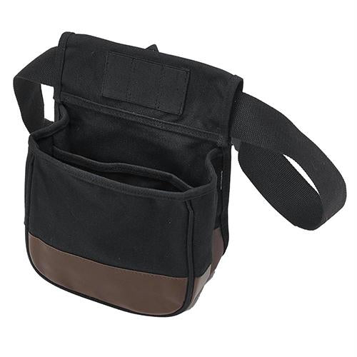 Divided Shell Pouch, Black-Brown