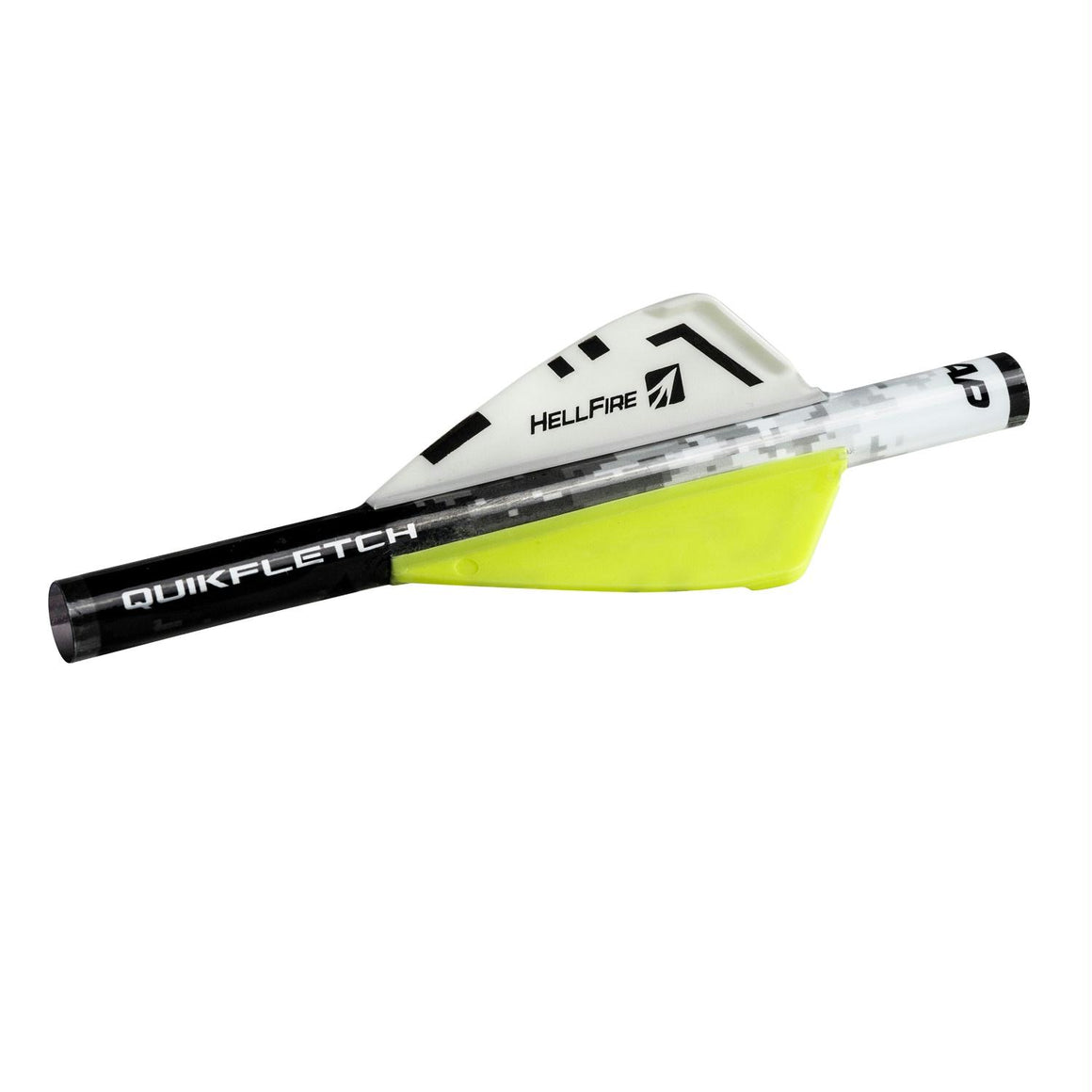 NAP Quikfletch 2in Hellfire  -6 Pack White-Yellow-Yellow