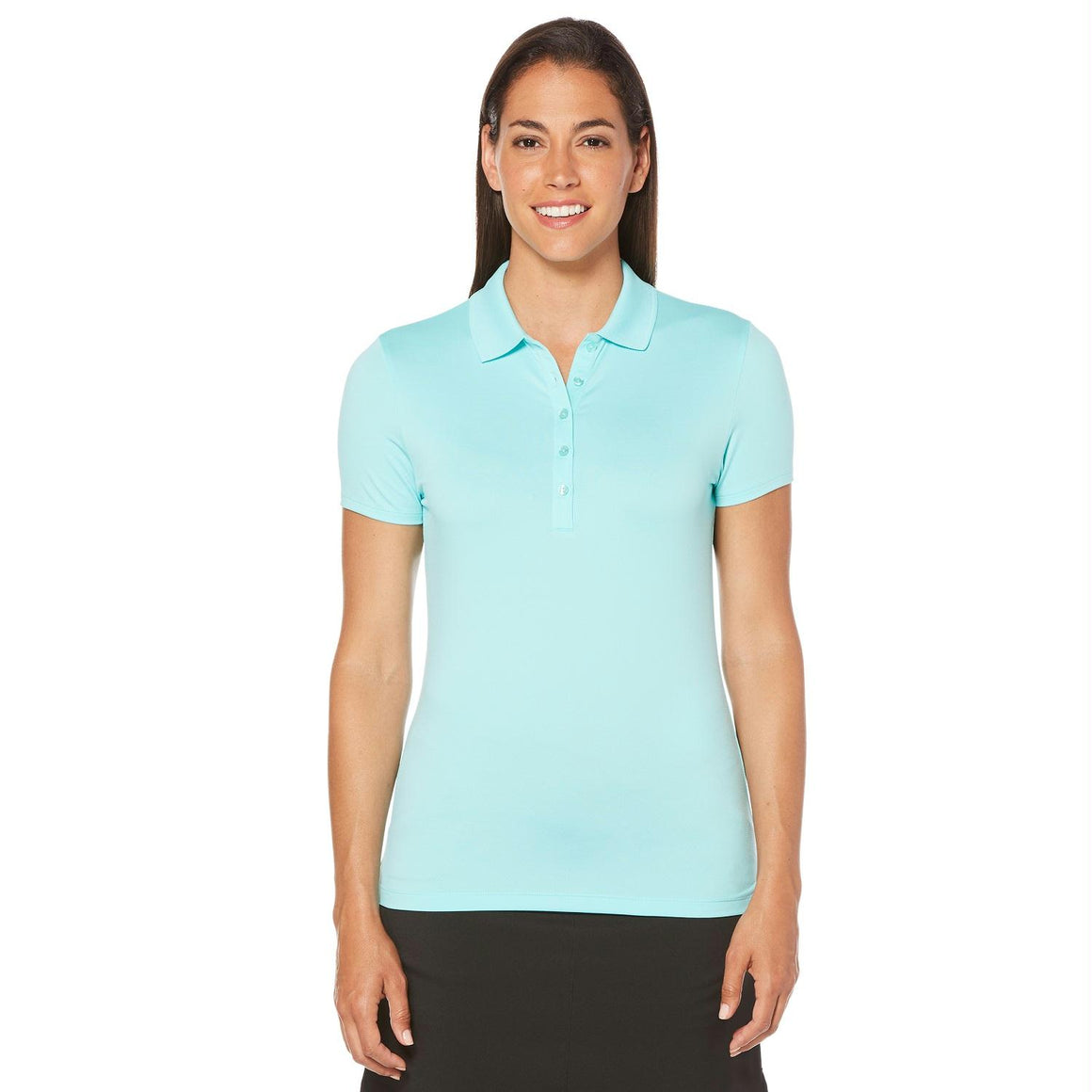 Callaway Opti-Dri Micro-Hex Short Sleeve Polo Blue XS