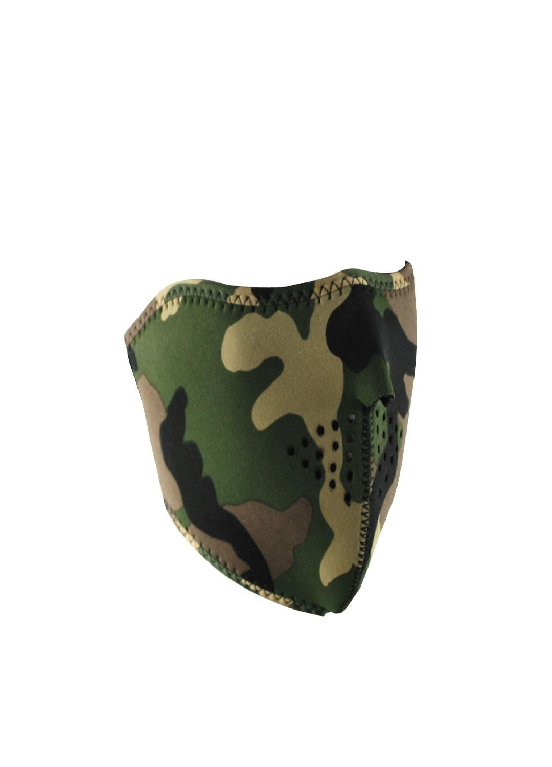 ZanHeadgear Reversible Half Mask Camo to High-Vis Orange