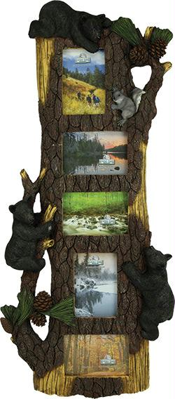 Rivers Edge 5 Photo Bear Pine Tree Frame 15x34 Inches