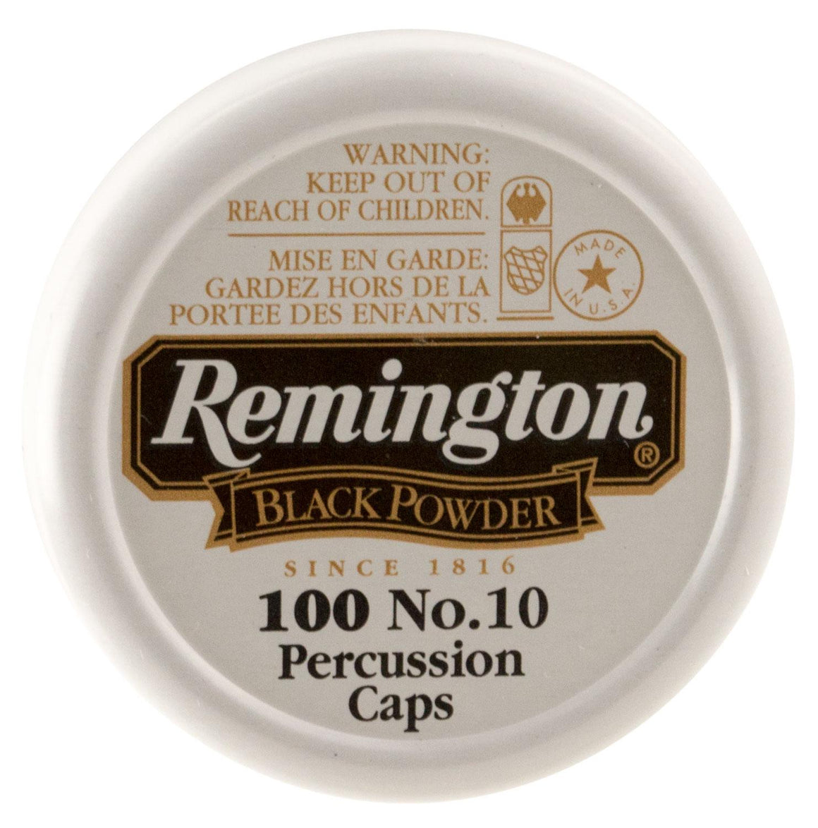 Remington Ammunition X22617 #10 Percussion Caps Black Powder Brass 100 BX- 50 CS