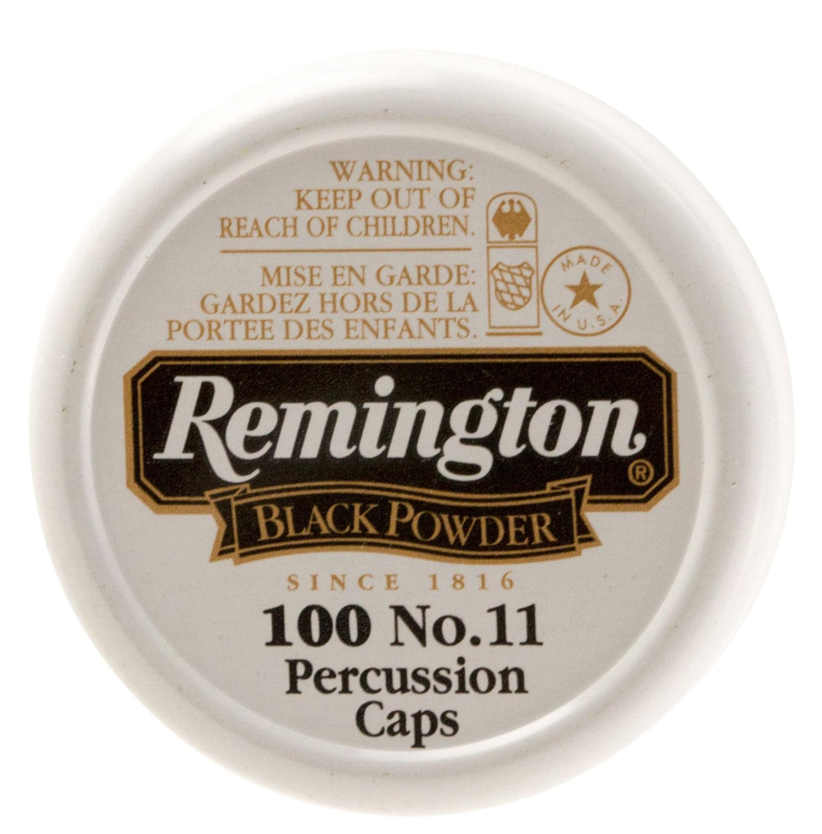 Remington Ammunition X22619 #11 Percussion Caps Black Powder Brass 100 BX-50 CS
