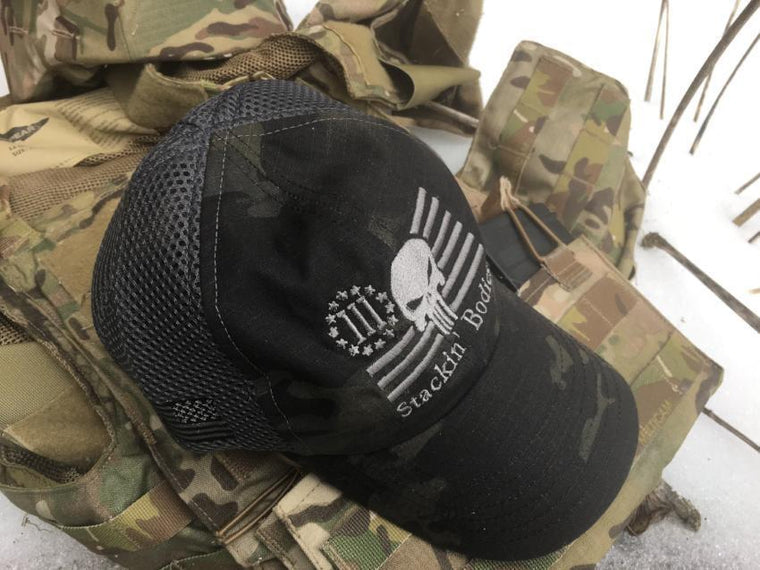 Stackin' Bodies American Made Dark Multicam Mesh Cap