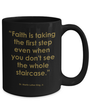 Advance the Dream 15 0z Black Mug with Quote