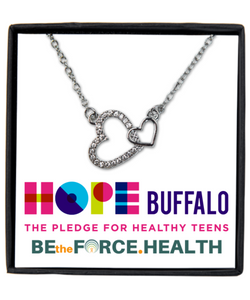 Hope Buffalo for Healthy Teens Silver Necklace