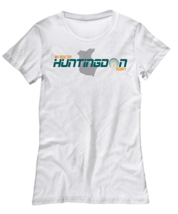 My Healthy Huntingdon White Womens Tee