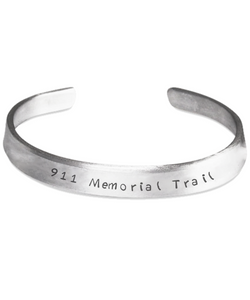 911 Memorial Trail Stamped Bracelet