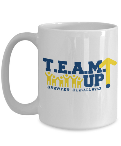 Team Up! Greater Cleveland White Mug