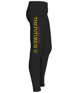 The Future is U Black Leggings