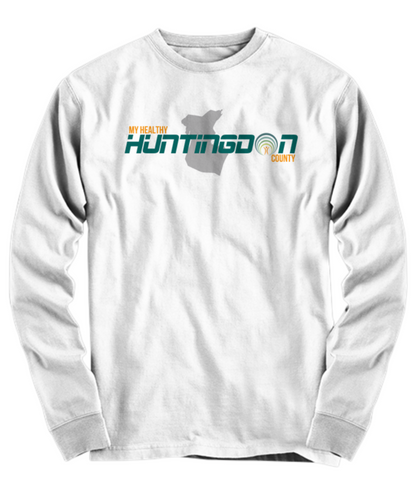 My Healthy Huntingdon Long Sleeve White Tee