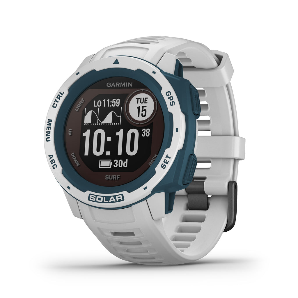 Garmin Instinct Solar Rugged GPS Smartwatch - Solar Charging - Surf, Cloudbreak - Tactical Sports Gear
