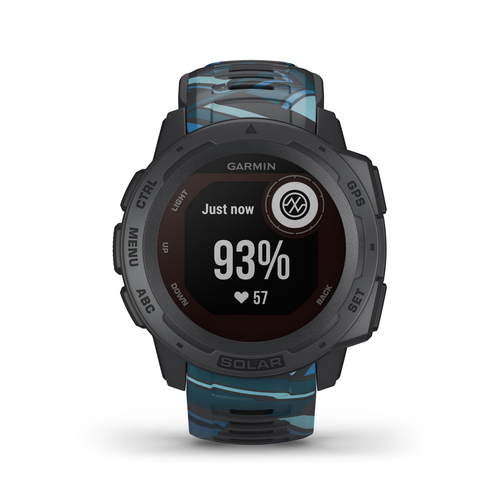 Garmin Instinct Solar Rugged GPS Smartwatch - Solar Charging - Surf, Pipeline - Tactical Sports Gear