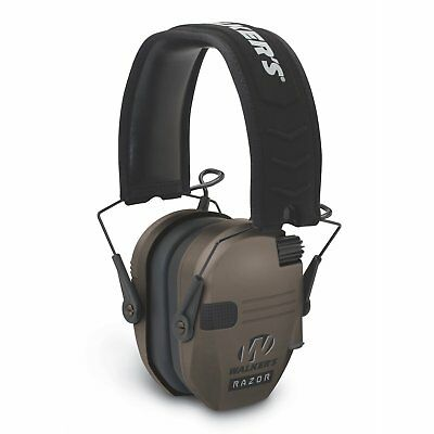 Walkers Game Ear Electronic Muff - Razor Slim 23db (Flat Dark Earth) - GWP-RSEM-FDE - Tactical Sports Gear