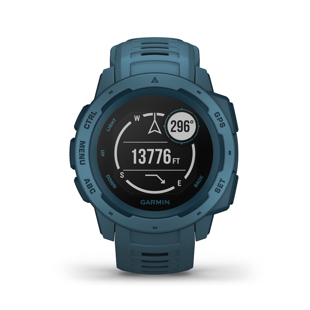 Garmin Instinct GPS Watch, Lakeside Blue - Tactical Sports Gear