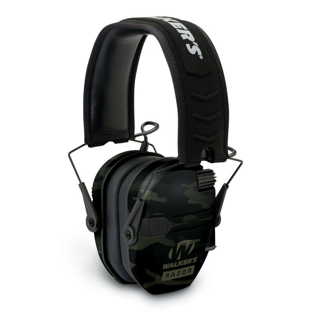 Walkers RAZOR Slim Electronic Hearing Protection Muff - Multicam Camo - Gray - Tactical Sports Gear