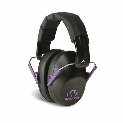 Walkers Pro Low Profile Folding Ear Muff (Purple) - Passive Hearing Protection GWP-FPM1-BKPU - Tactical Sports Gear