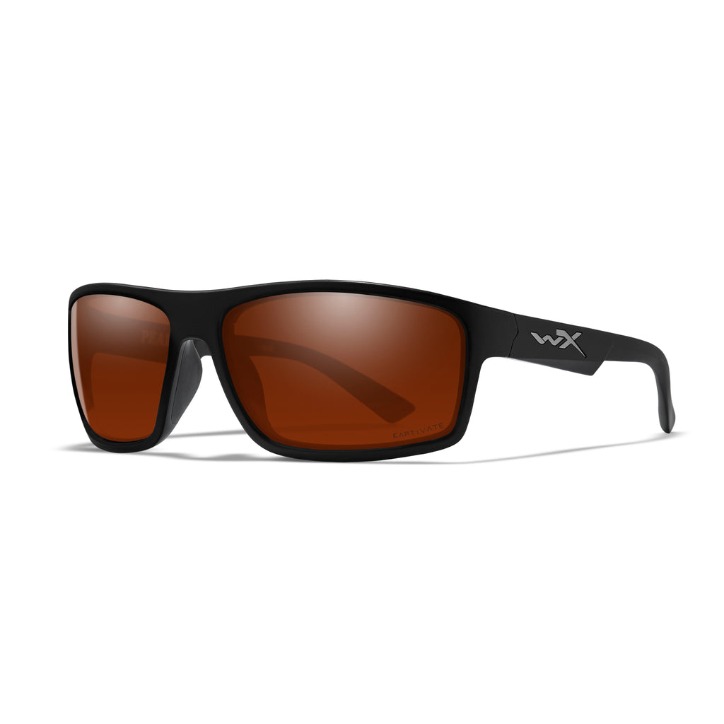 Wiley X WX Peak Sunglasses - Captivate Polarized Copper/Matte Black - ACPEA02 - Tactical Sports Gear