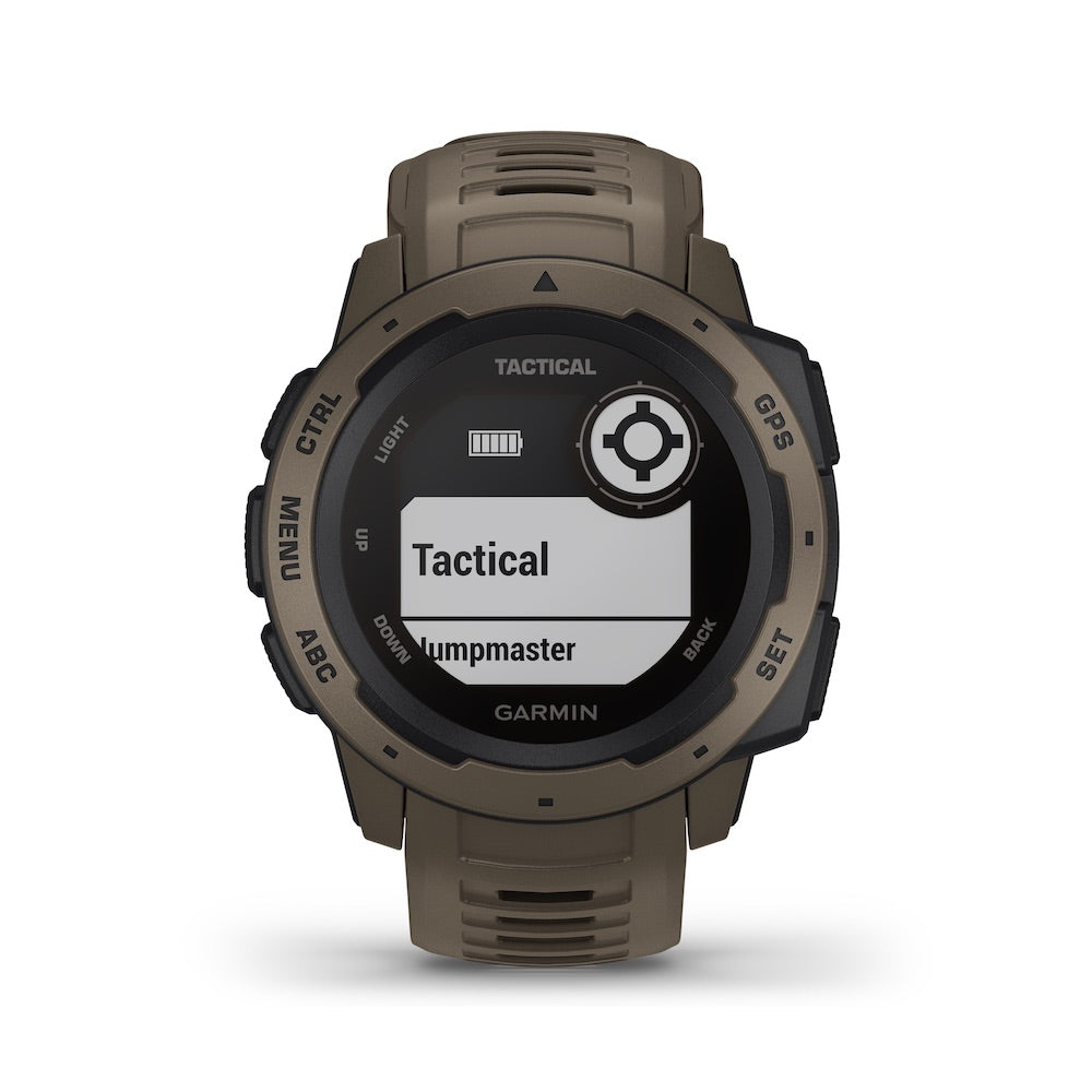 Garmin Instinct Tactical Edition - GPS Smartwatch - Coyote Tan Watch - Tactical Sports Gear