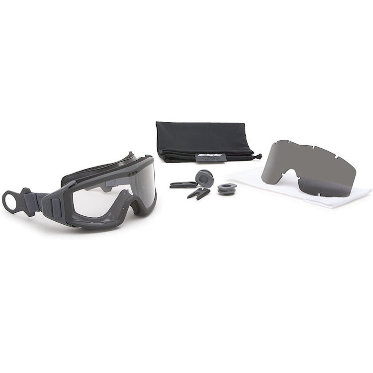 ESS Eyewear 740-0516 Profile Pivot Goggle - Gray w/1 Clear lens & 1 Smoke Gray lens - Tactical Sports Gear