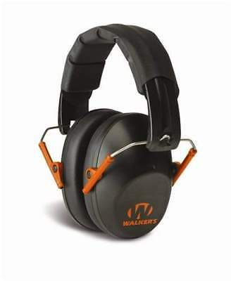 Walkers Pro Low Profile Folding Ear Muff (Black and Orange) - Passive Hearing Protection GWP-FPM1-BKO - Tactical Sports Gear