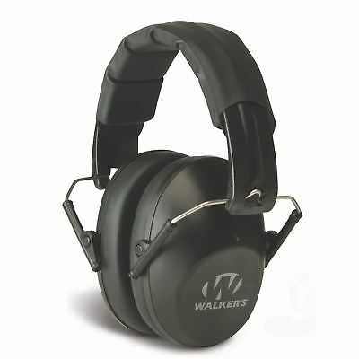 Walkers Pro Low Profile Folding Ear Muff (Black) - Passive Hearing Protection GWP-FPM1 - Tactical Sports Gear