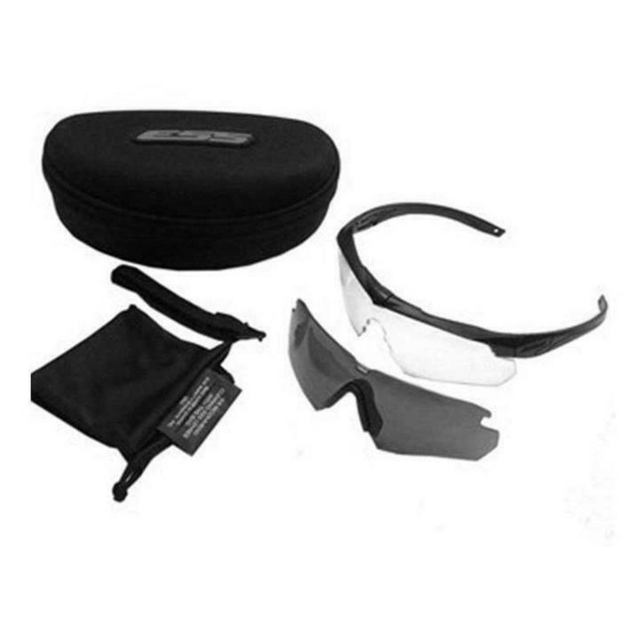 ESS Crossbow APEL Eye Protection Sunglasses Kit - with Clear and Smoke Gray Lens - Tactical Sports Gear