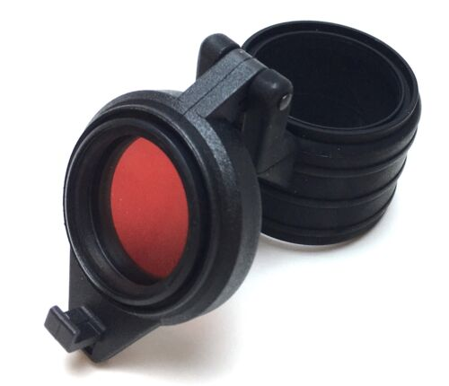 Red Filter Cap for Pelican M6 or other similar Tactical Flashlight
