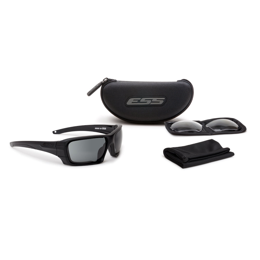 ESS Rollbar Sunglasses  - Black W/Clear & Smoke Gray Lenses - APEL - Tactical Sports Gear
