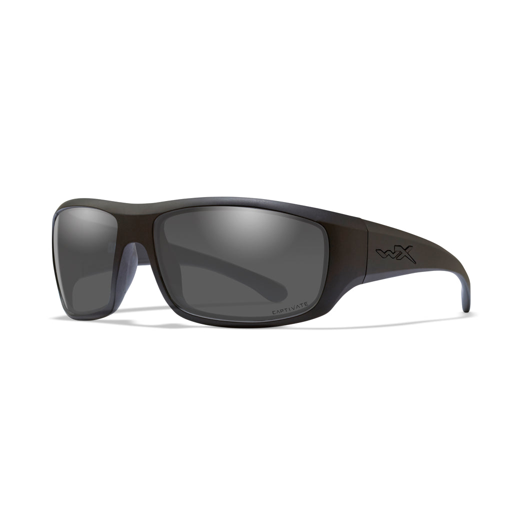 Wiley X WX Omega Sunglasses - Captivate Polarized Grey/Matte Black - ACOME08 - Tactical Sports Gear